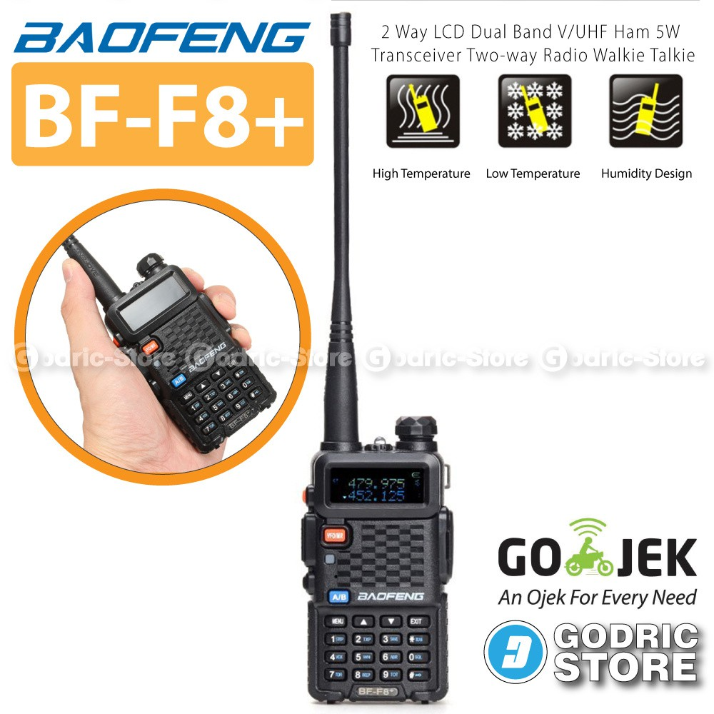 Baofeng Walkie Talkie Dual Band 8w 128ch Uhf Vhf Ht Bf Uvb2 Plus Mini Uv 3r Handy Talky Uv3r Taffware Original Shopee Indonesia