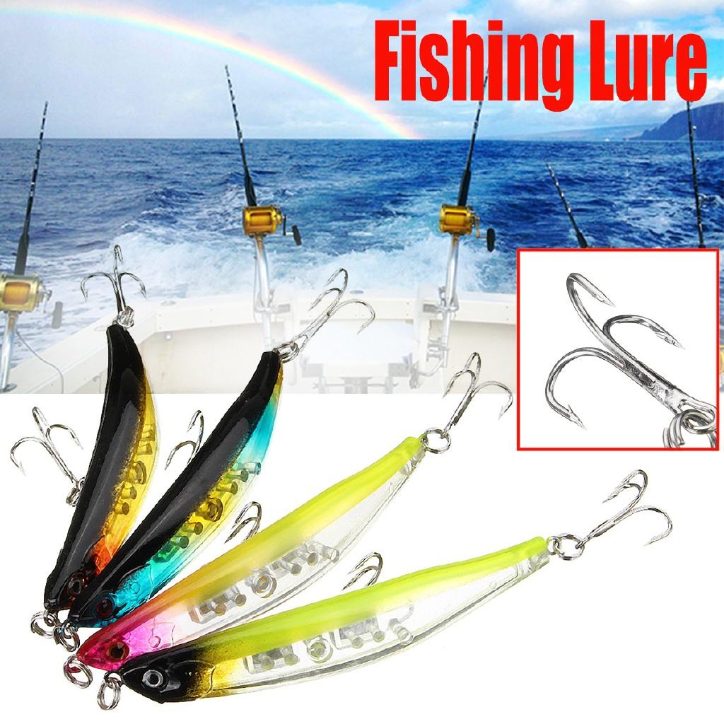 4Pcs Minnow Fishing Lures 9cm//50g Topwater Pencil Hard Crankbait Fishing