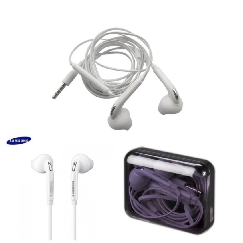 MIAO Earphone Headset Handsfree Samsung Galaxy S7 S7 Edge S8 S8+ S6 Note A J S Grand Mega Original | Shopee Indonesia