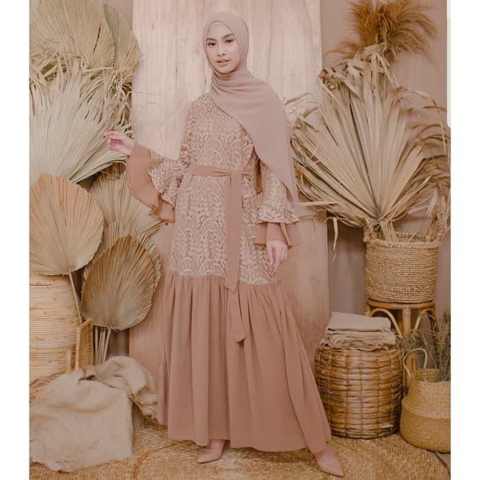 Gamis Syari Sinar Lebaran 2020 Terbaru Kekinian Cantik Promo Murah Gamis Syari Ceruty Shakila 45zjj Shopee Indonesia