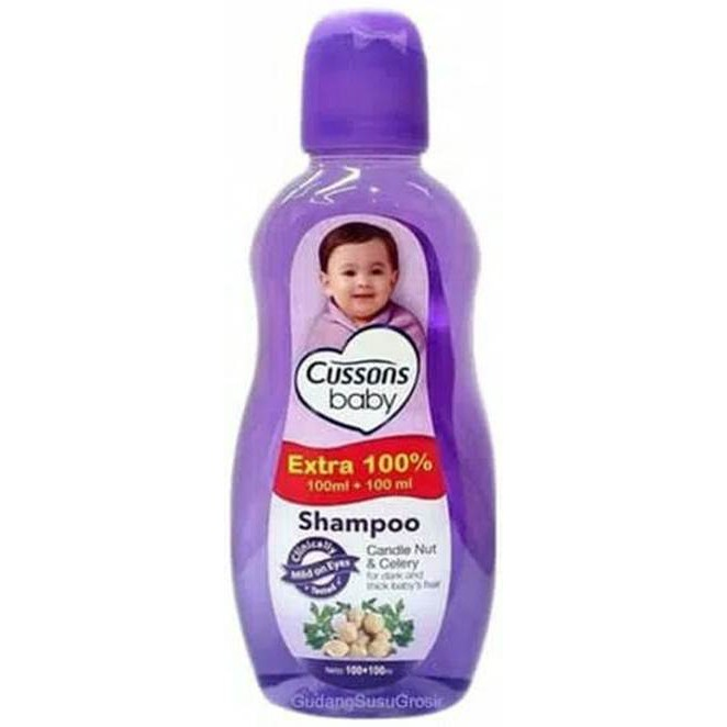 ORIGINAL Cussons Baby Shampoo 100ml+100 ml & 50ml+50ml / Cusson Shampoo Bayi / LEDI MART-Shp Candle 100+100