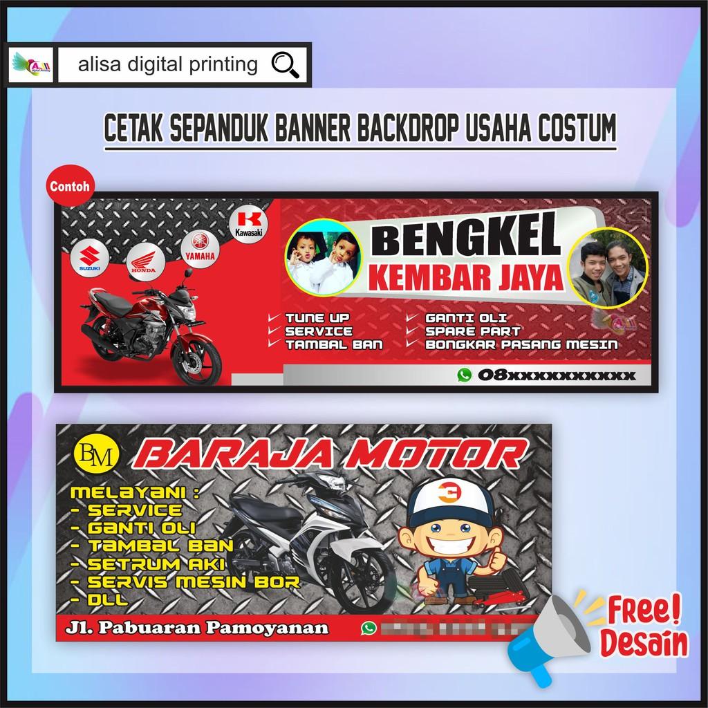 Contoh Desain Spanduk Bengkel Motor - gambar contoh banners