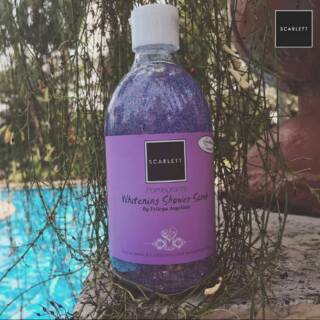 Scarlett Whitening Body Shower Scrub Gel Pomegranate By Felicya Angelista | Shopee Indonesia