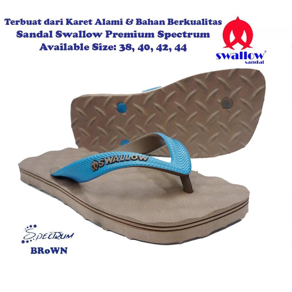 Sandal Swallow Premium Spectrum Pria AllBlack - Logo Biru | Shopee Indonesia