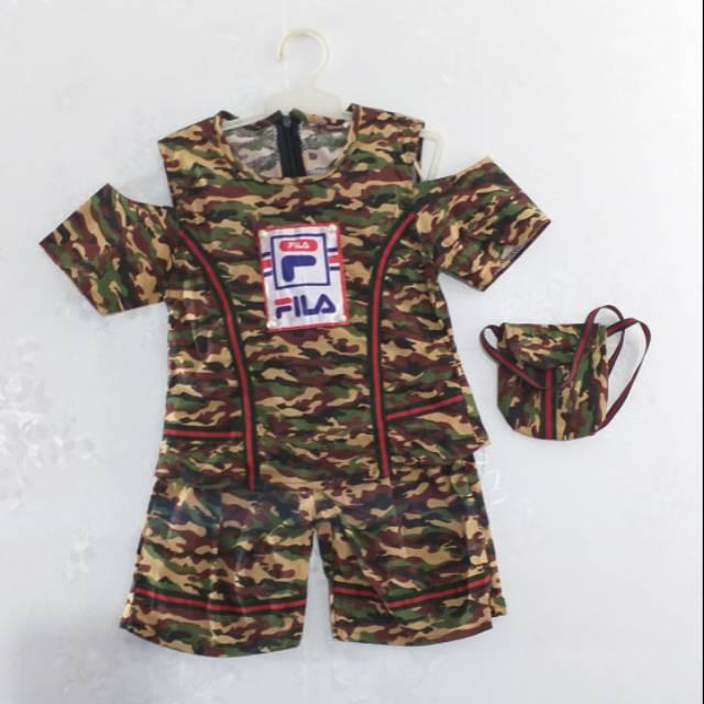 Dress army anak   Atasan loreng anak   serba 35000
