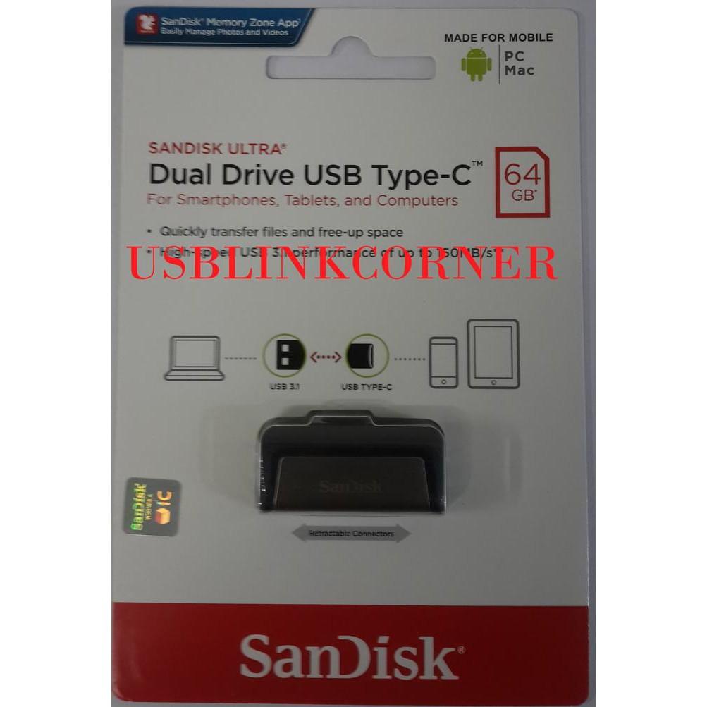 Sandisk Flashdisk Otg 32gb Usb 30 150mbps Hitam Daftar Harga Type C 64gb 31 Up To Shopee Indonesia