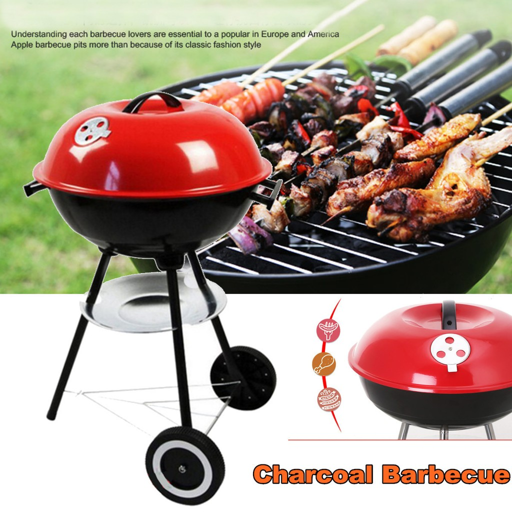 Charcoal Barbecue Bbq Grill Outdoor Camping Cooker Bars Backyard Maxim Ultra Panggangan Smoker Tool Shopee Indonesia