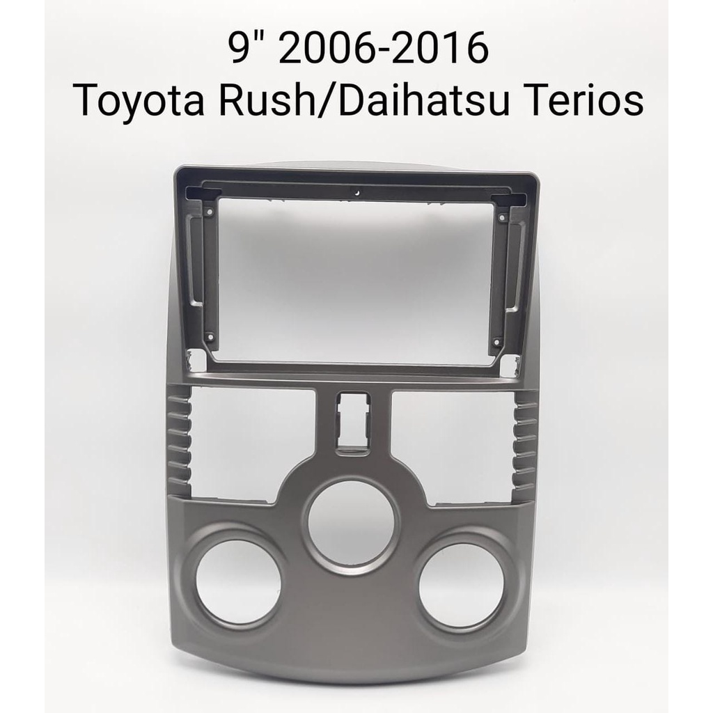 Frame 2 din headunit android 9 inch Toyota Rush / terios 2006-2016