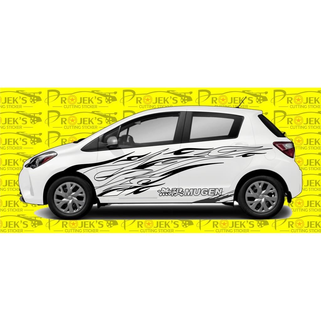 Termurah Cutting Sticker Mobil Stiker Motif Keren Sticker Tribal Motif Api Shopee Indonesia