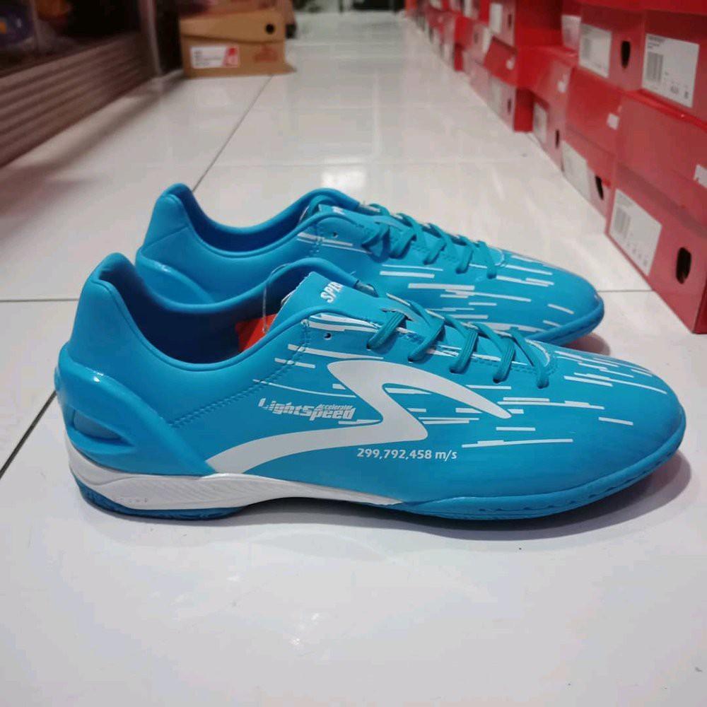 Sepatu Futsal Specs Murah Lightspeed Blue Original Shopee Indonesia