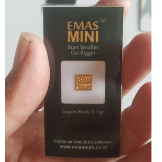 Logam Mulia Emas Mini Murni 24 Karat 0 1 Gram Shopee Indonesia
