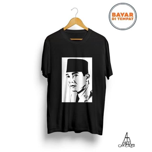Kaos Ir Soekarno Baju Tshirt Presiden Pahlawan Bung Karno Shopee Indonesia