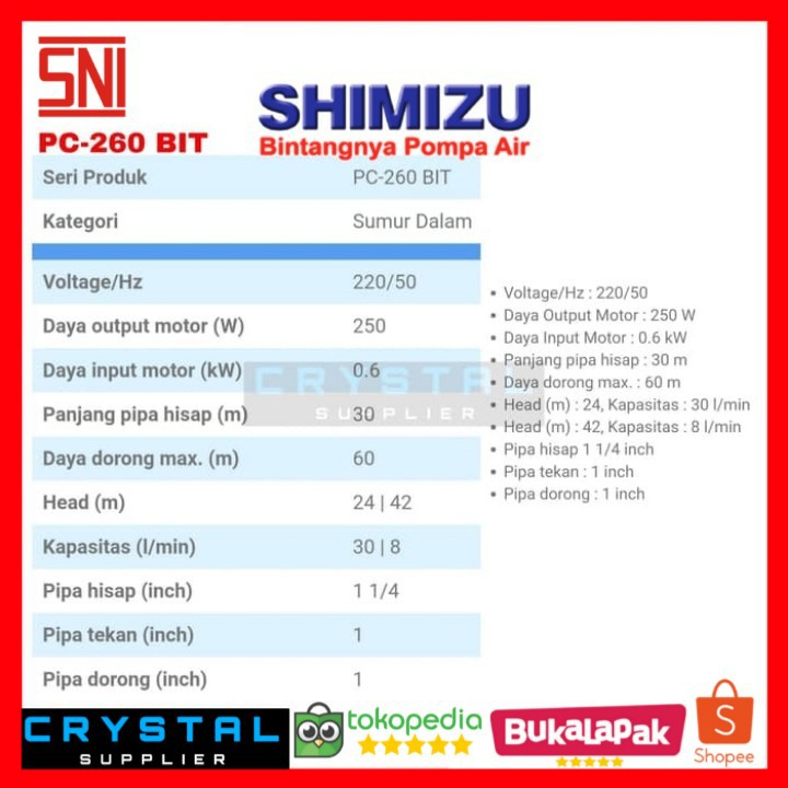 Shimizu pompa air pc 260 bitcoins irish league reserve betting trends