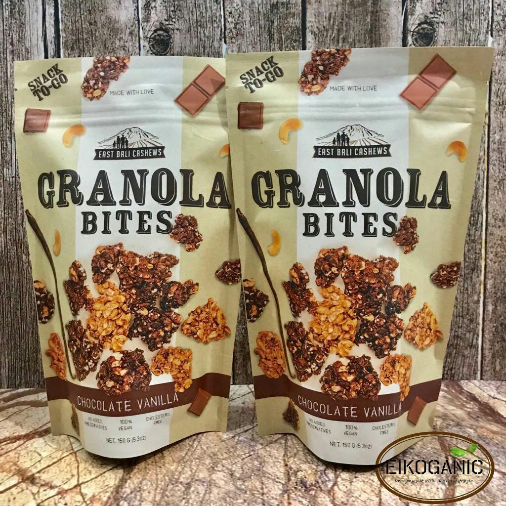 East Bali Cashews Granola Bites Chocolate Vanilla 125gr Shopee Cashew Cocoa Nuts 75gr Indonesia