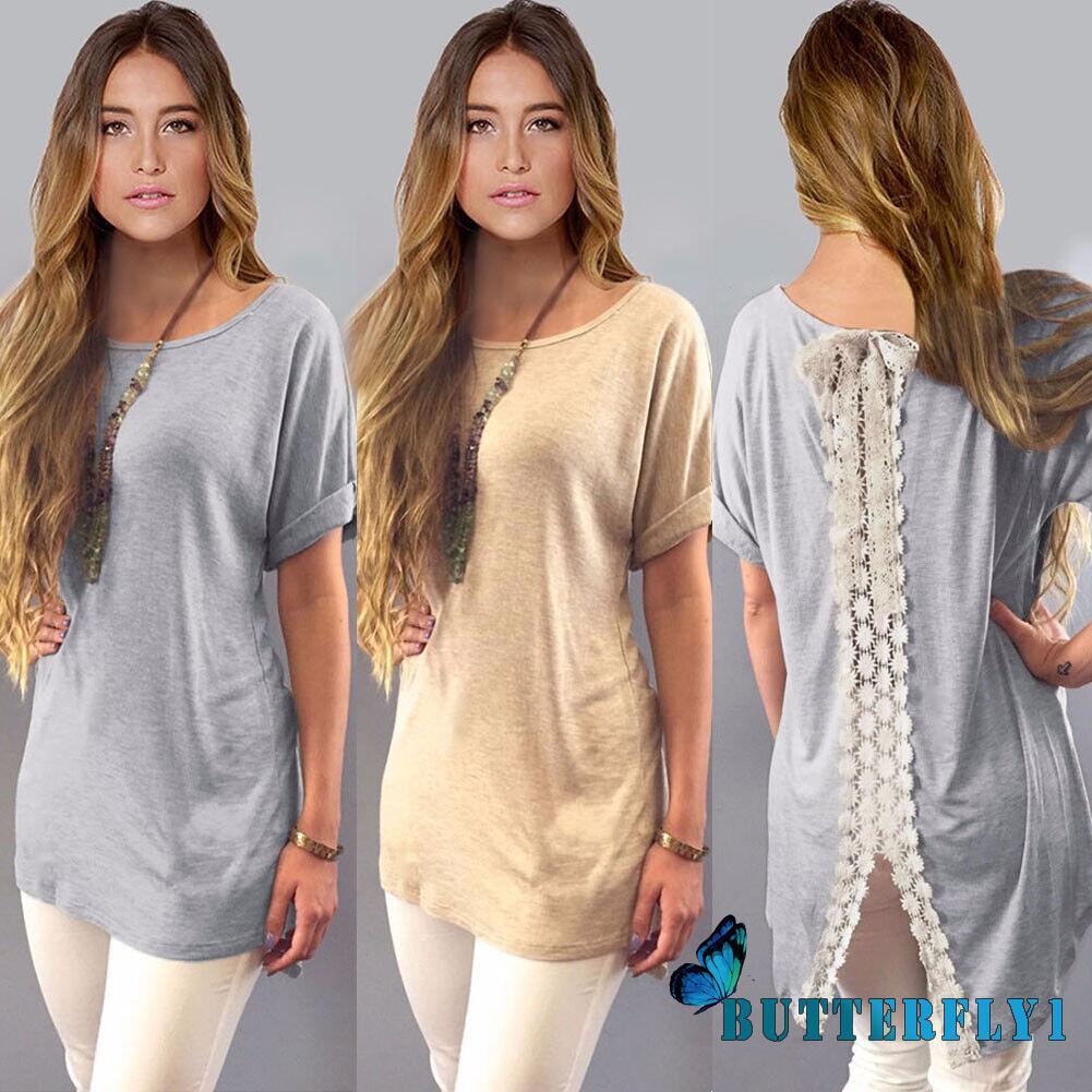 Women/'s Summer Vest Top Short Sleeve Blouse Casual Tank Tops T-Shirt Lace