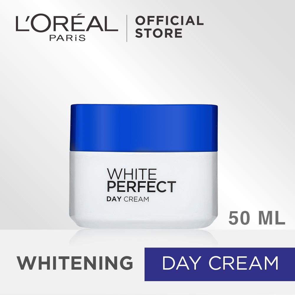 Deoonard 7 Days Whitening Cream Krim Pemutih Wajah: L'Oreal Paris Dermo Expertise White Perfect Day Cream SPF