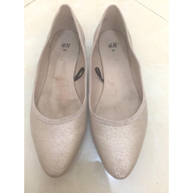 Sepatu Gliter H M Original Size 35 Shopee Indonesia