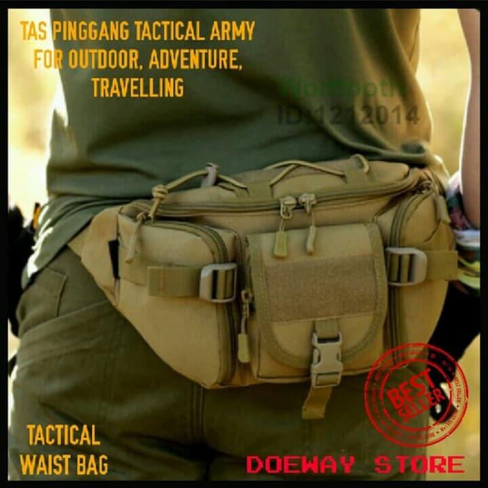 Promo Murah Tas Pinggang Tactical Botol Minum Army waist bag travel / outdoor | Shopee Indonesia