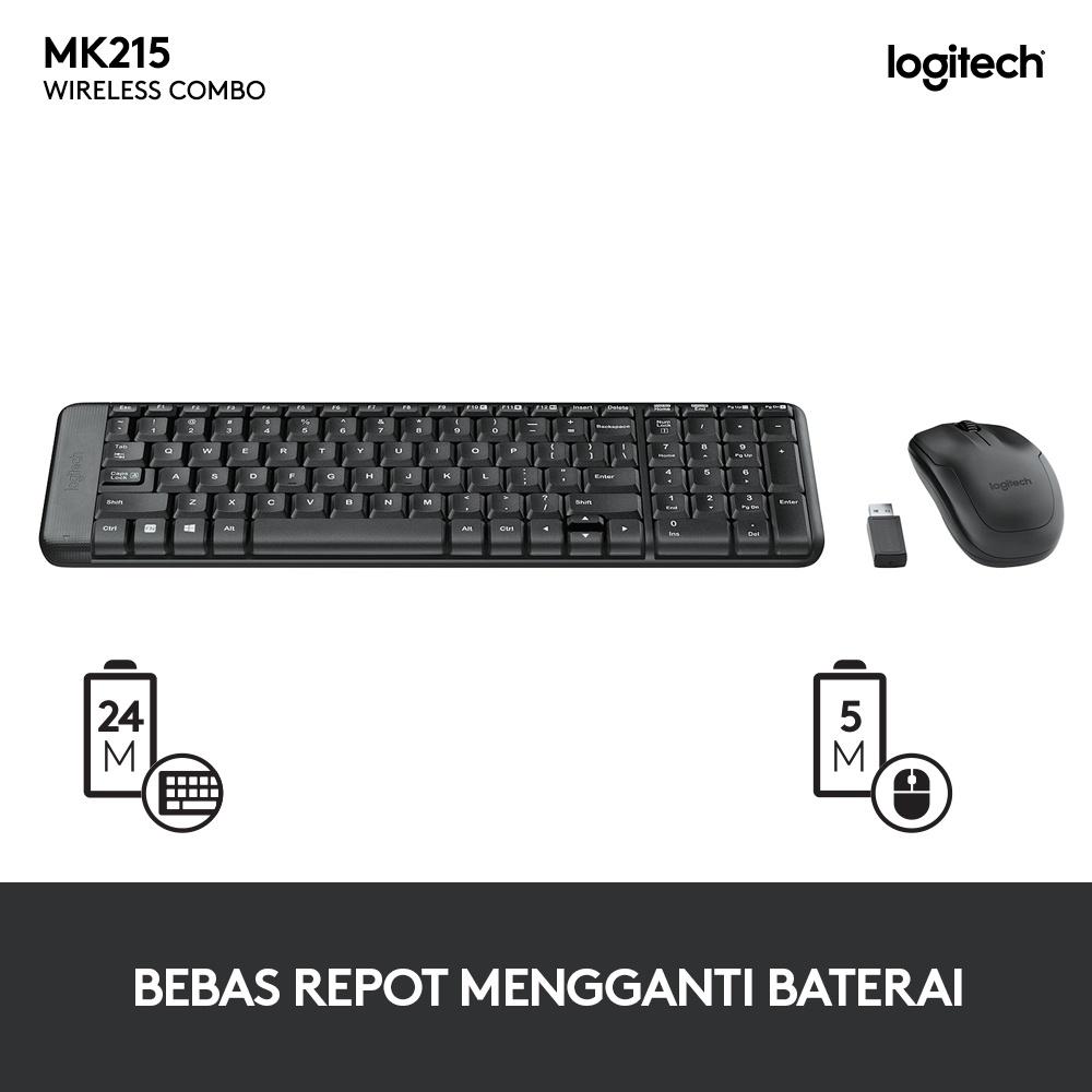 Logitech MK215 Wireless Combo Keyboard Mouse-3