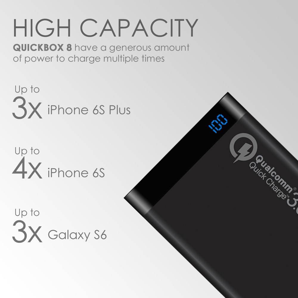 Powerbank Uneed Quick Charge 30 8000 Mah Fast Charging 8000mah Uneed Wave Kabel Data Type C