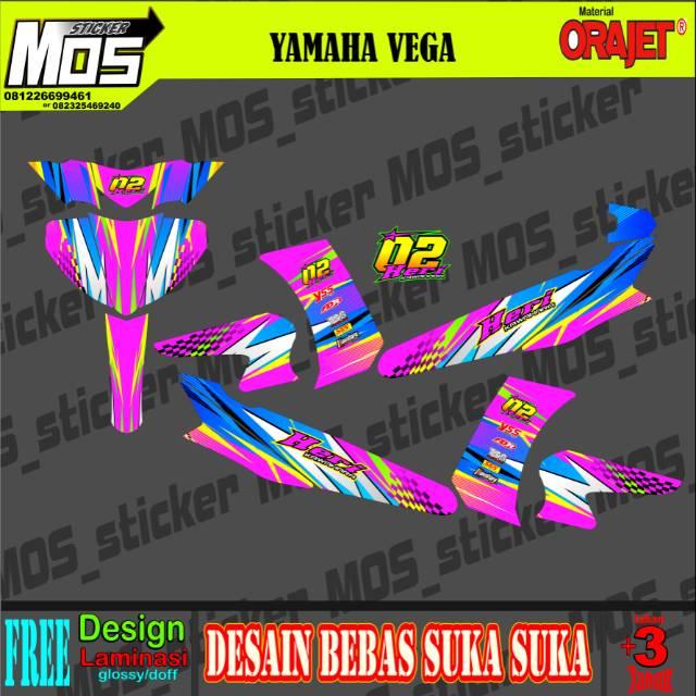 Sticker Full Body Vega R Z Zr Zx Full Body Desain Bebas Shopee Indonesia