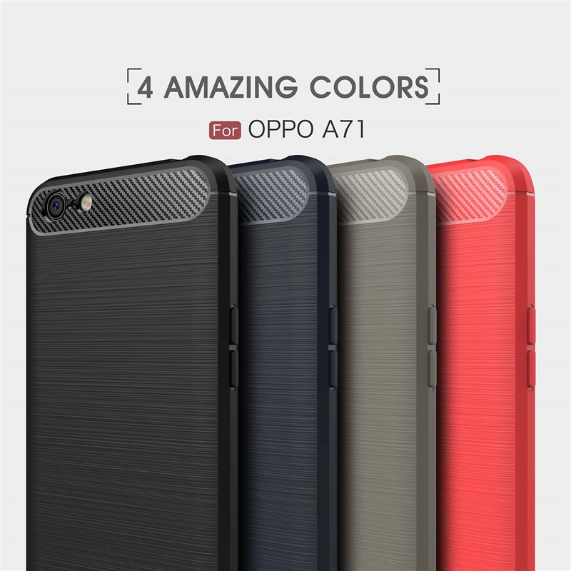 super popular 5829a 04f2f hocool Casing HP OPPO A71 Carbon Fiber Soft Silicone Phone Case