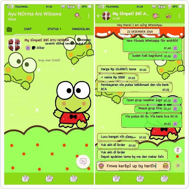 Gambar Keroppi Untuk Wallpaper Wa Tema Whatsapp Keroppi Keropi Shopee Indonesia