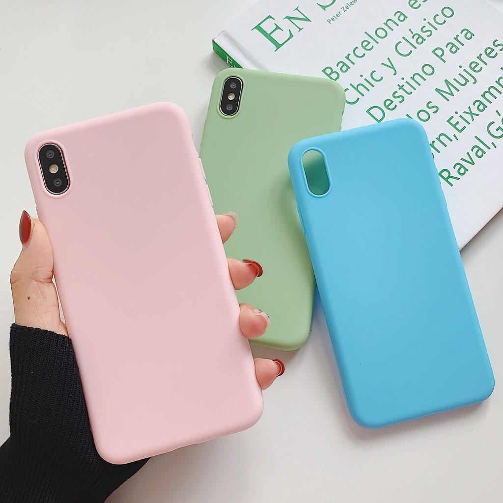 Casing Soft Case Pasangan Pria Wanita Matte Cair Ultra Tipis Untuk Oppo Huawei Vivo Apple 11