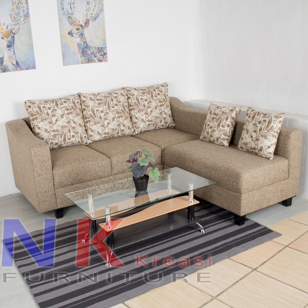Sofa Kursi Tamu L Minimalis Sofa Sudut Ruang Tamu Mewah Meja Tamu Shopee Indonesia
