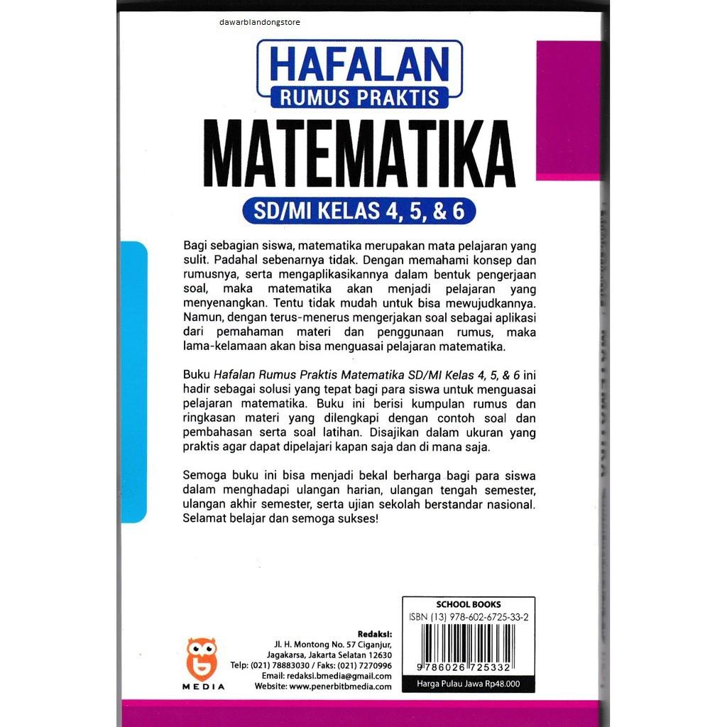 Buku Hafalan Rumus Praktis Matematika Sd Mi Kelas 4 5 6 Shopee Indonesia