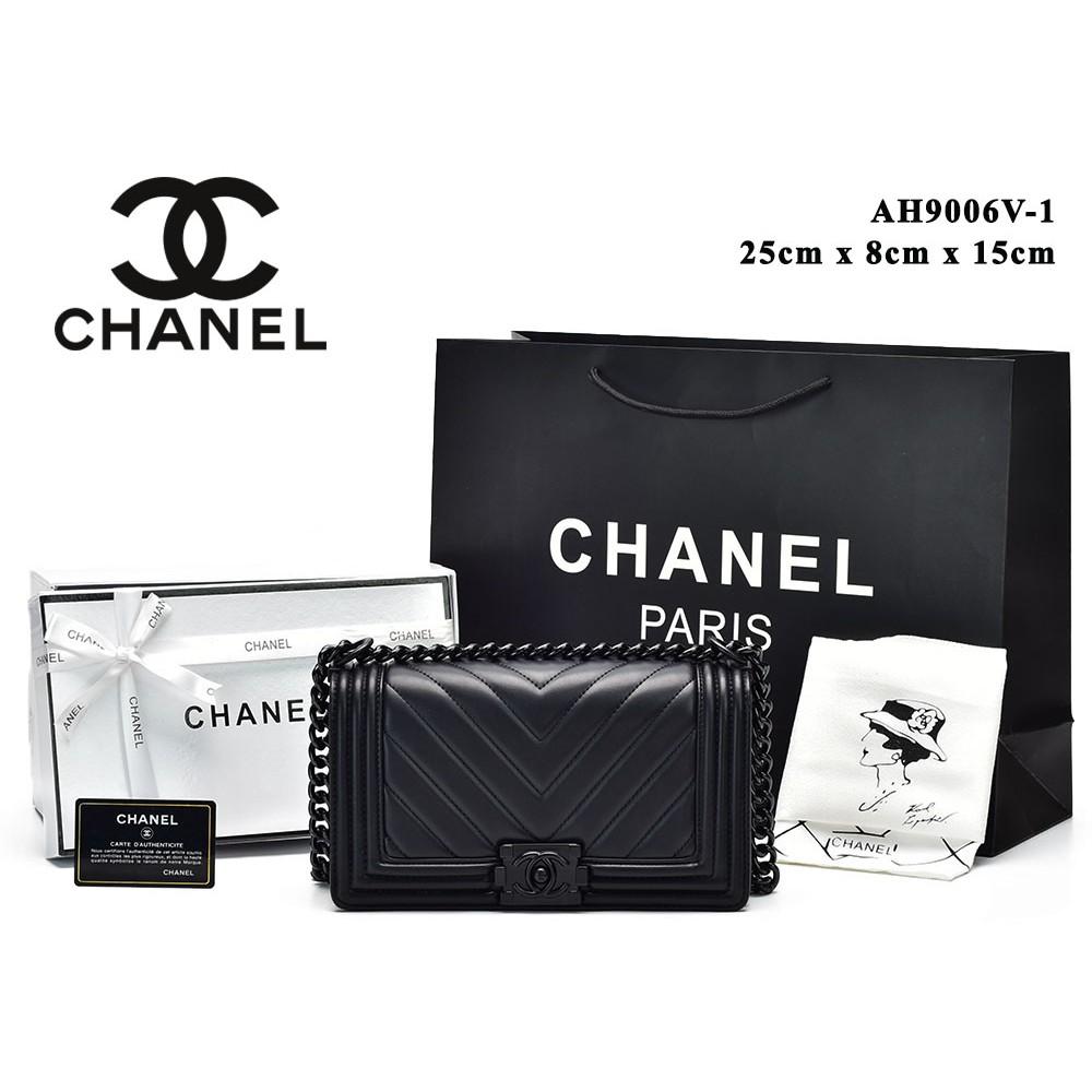 a877e96ededcfc Tas Chanel Reissue 2.55 Classic So Black Agedskin Hitam Semi Premium  AH9601V-56   Shopee Indonesia