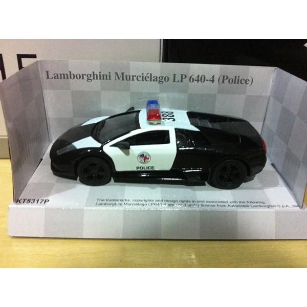 Kinsmart 1 36 Lamborghini Murcielago Lp640 Police Shopee Indonesia