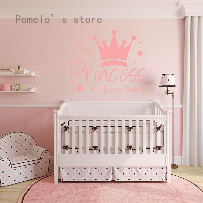 Stiker Dinding Mural Gambar Putri Tidur Warna Pink Untuk Dekorasi Kamar Tidur Anak Shopee Indonesia