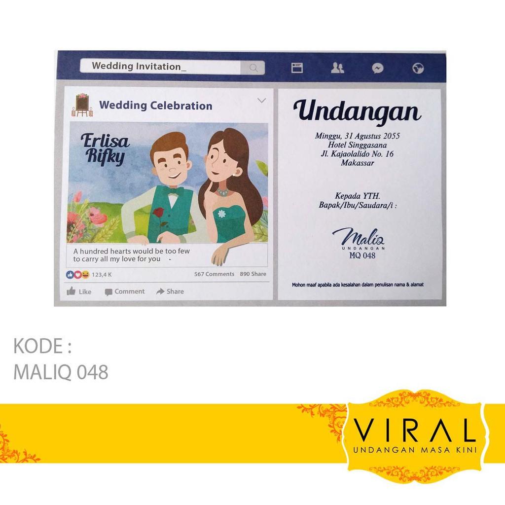 Erba 88186 Undangan Nikah Pernikahan Blanko Kartu Kode Blangko Kertas Murah Shopee Indonesia