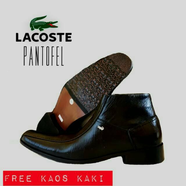 Sepatu Lacoste pantofel boots resleting hitam cokelat kulit asli kerja  kantor formal pesta pria  d2e53f0ffe