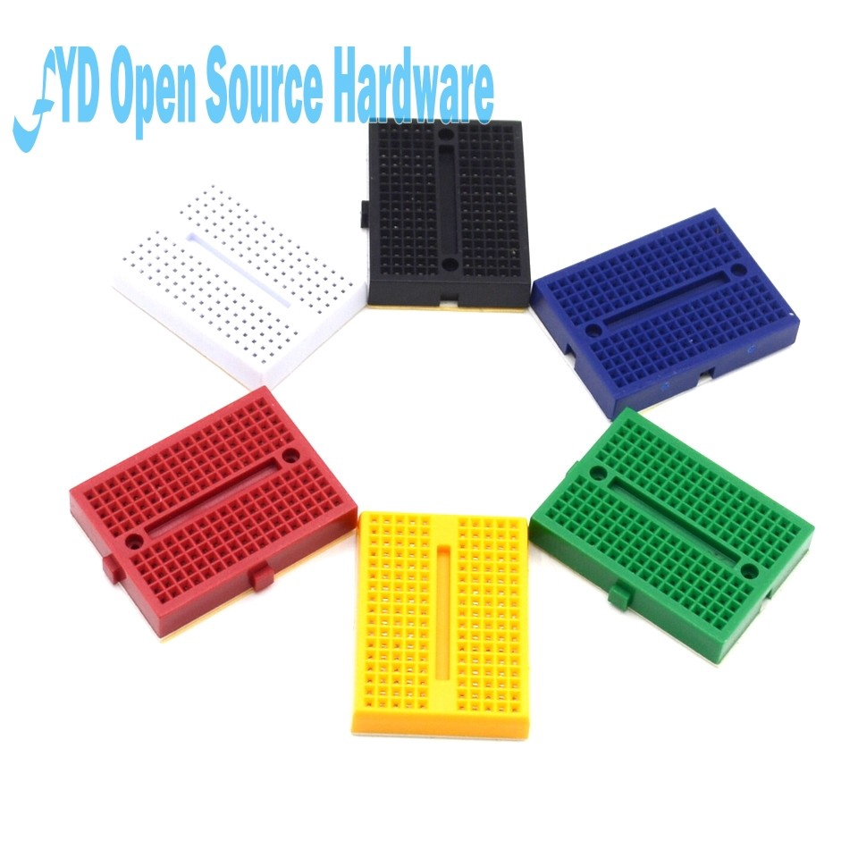 5pcs Black 170 Tie-point Prototype Solderless PCB Breadboard for Arduino DIY