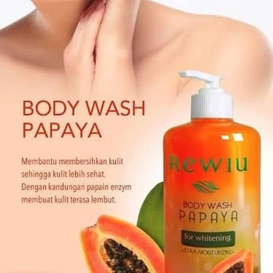 Rewiu Body Wash Papaya For Whitening Ultra Moisturizing 500ml Sabun Mandi Pepaya Sabun Pepaya Rewiu Shopee Indonesia