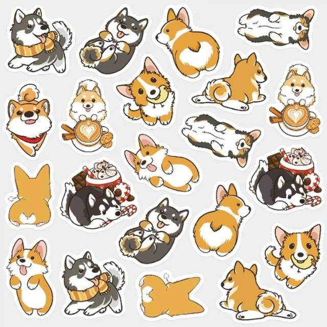 Sticker Anjing Corgi Lucu Sticker Lucu Sticker Scrapbook Jurnal Diary Shopee Indonesia