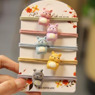 Versi Korea Dari Aksesoris Rambut Sederhana Lucu Kepala Hamster Tali Rambut Cincin Elastis Tinggi thumbnail