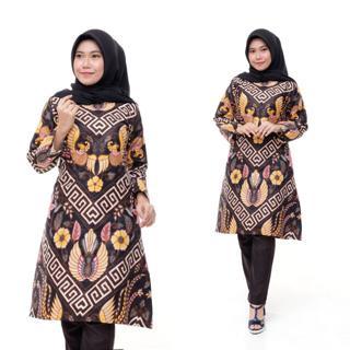 Model Baju Batik Wanita Terbaru 2020 Atasan Lengan Panjang Tunik Shopee Indonesia