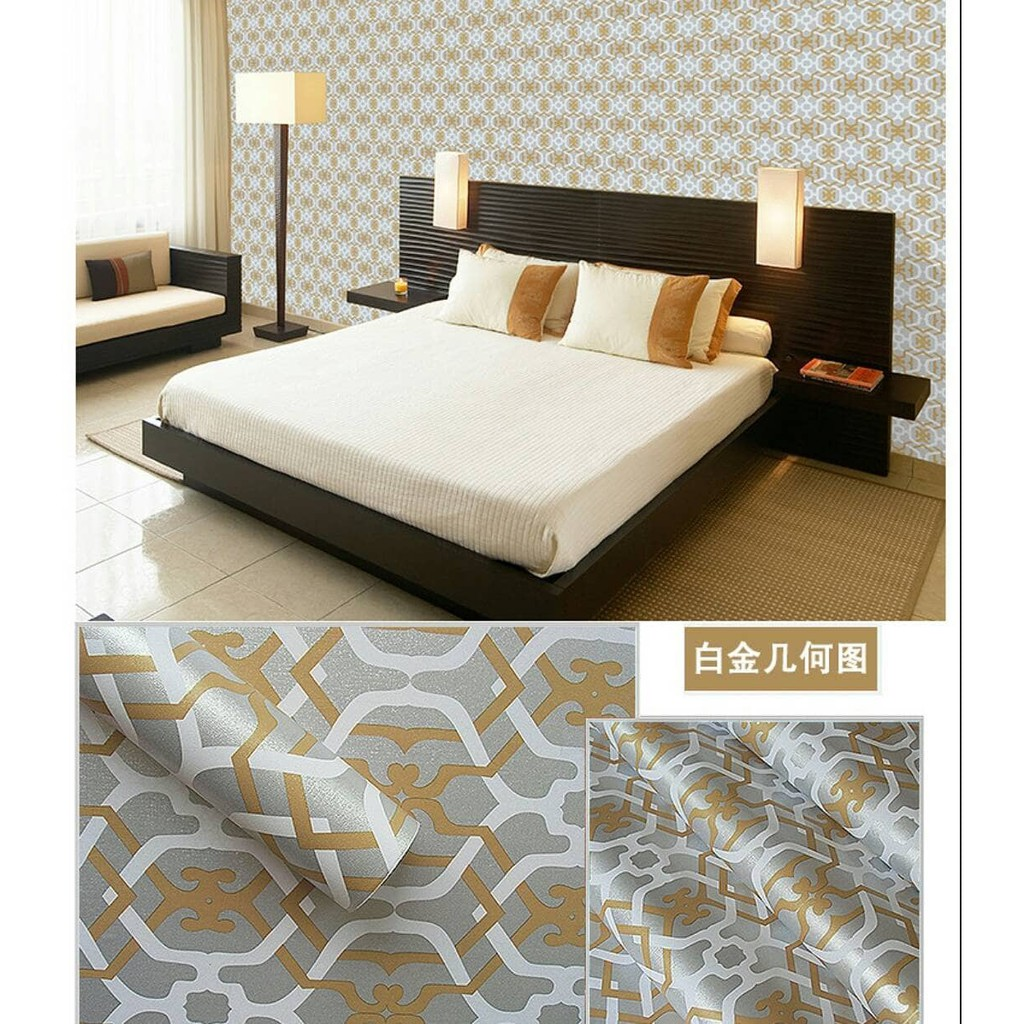 Wallpaper Sticker Stiker Dinding Motif Garis Biru Putih Shopee Indonesia