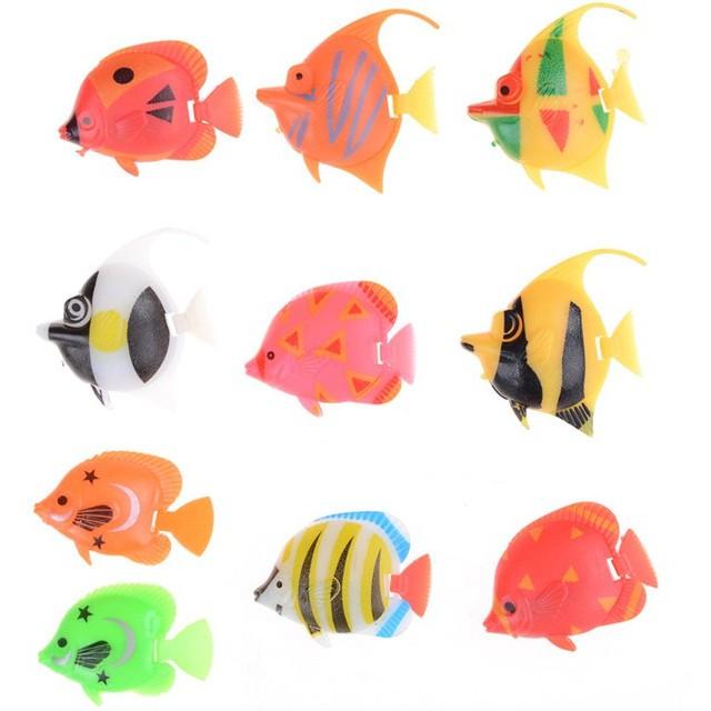 Bayar Di Tempat 10pcs Ikan Kecil Palsu Bahan Plastik Warna Warni Untuk Dekorasi Shopee Indonesia