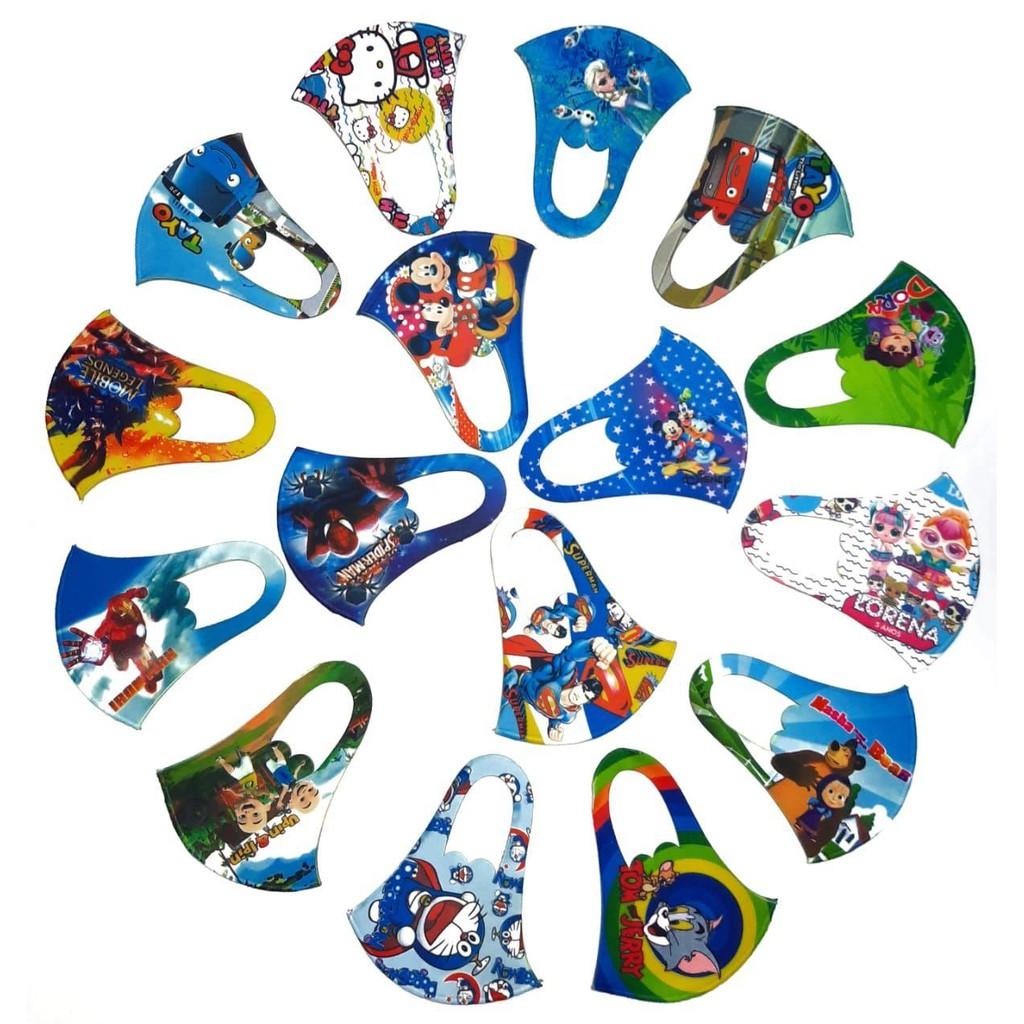 Masker Scuba Anak motif Full Printing ( LUSINAN ) | Shopee ...