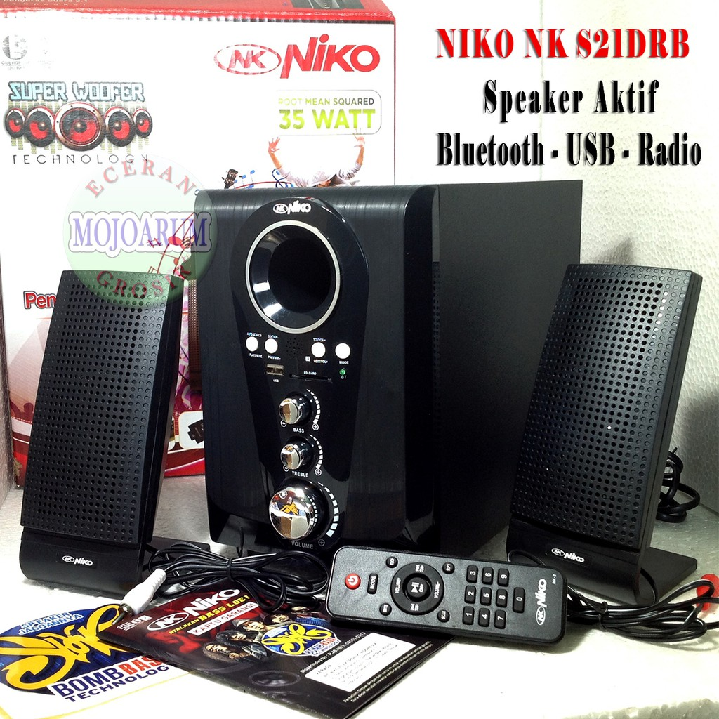 Up To 46 Discount From Mojoarum Grosir Tp600 Original Speaker Advance Tp 600 Niko S21drb Aktif Bluetooth Fm Radio Usb Memory Activ