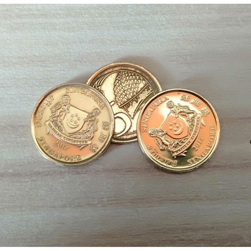 Uang Koin 5 cent Singapore / Singapura