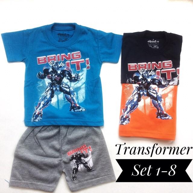 Setelan Baju Anak Laki Murah Transformer 1 8 Premium