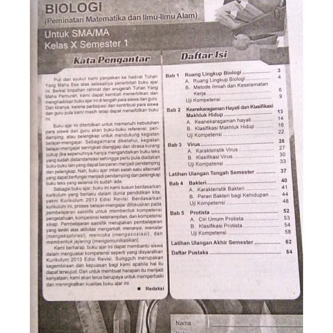 Bahan Ajar Biologi Kelas X Semester 2 - Sekilas Bahan