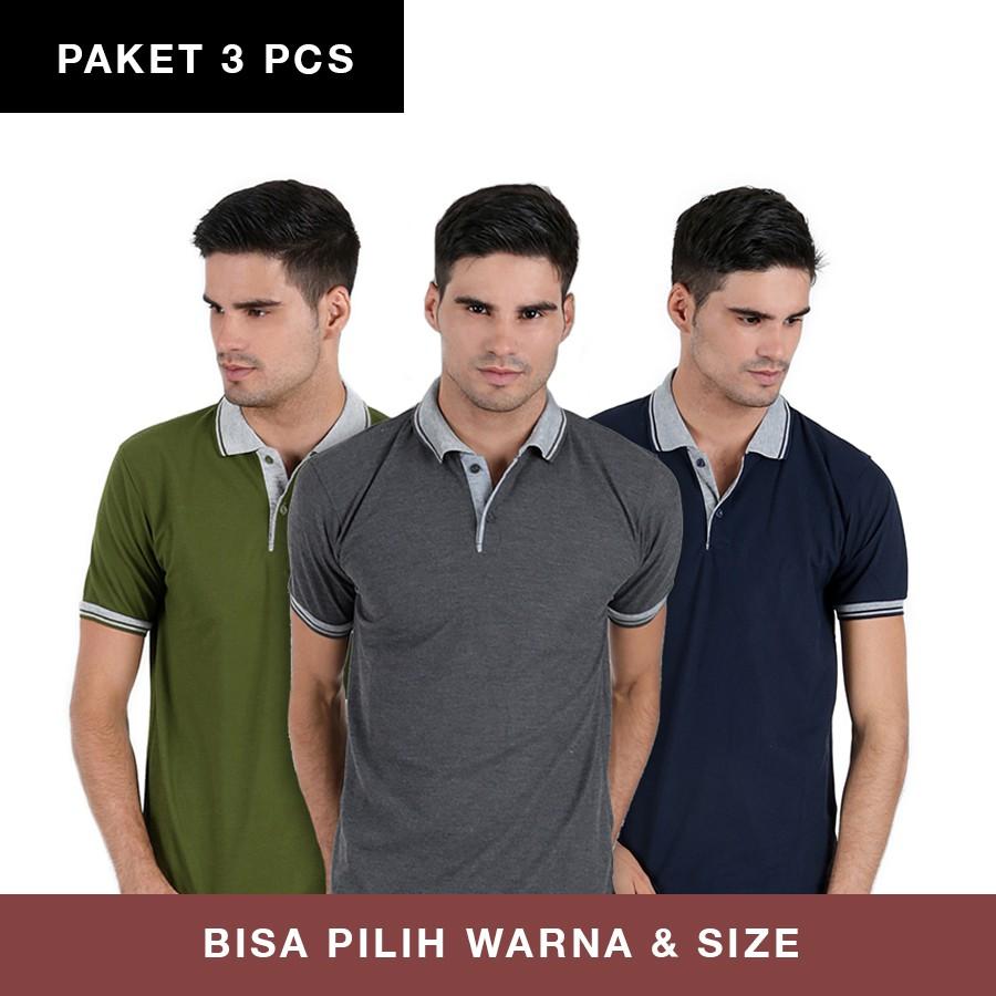 [PAKET 3PCS] POLO SHIRT LAKOS 11 WARNA S-XL BISA SERAGAM | Shopee Indonesia