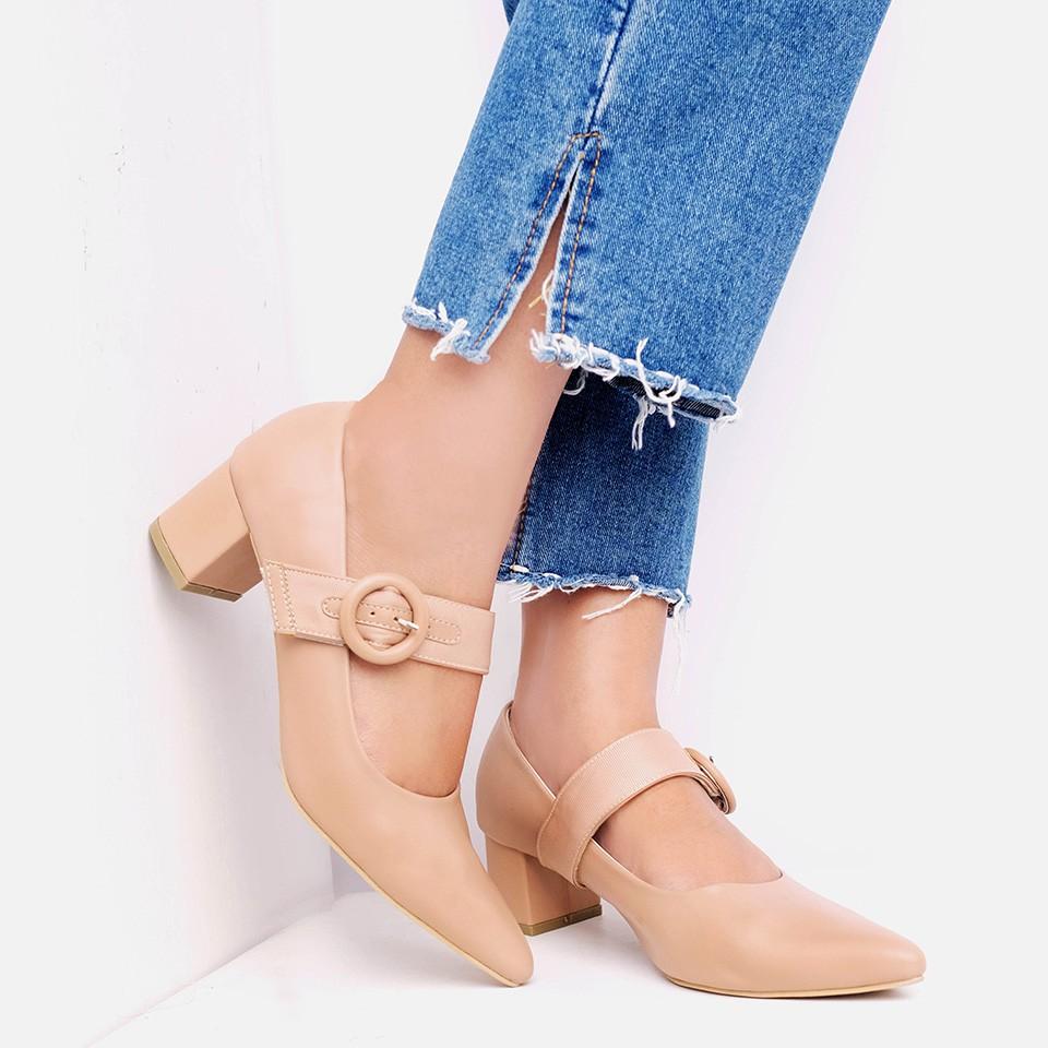 Amazara Meghan Hazelnut Heels Shopee Indonesia Cara Flatshoes Beige 41