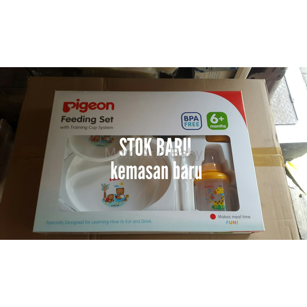Pigeon Feeding Set With Training Cup Referensi Daftar Harga Promo Plus Perlengkapan Makan Bayi Terlaris Shopee Indonesia